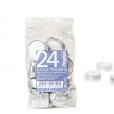 Sacchetto da 24 CANDELE TEALIGHT BIANCO X540235