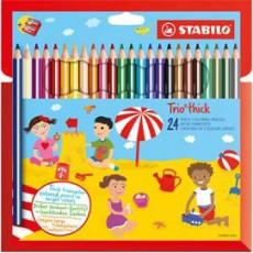 Astuccio 24 pastelli Trio Thick colori assortiti STABILO 203/2-24