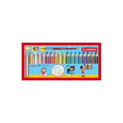 Astuccio 18 pastelli STABILO WOODY 3in1 + TEMPERINO 880/18-3