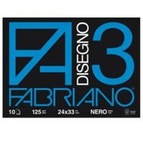 ALBUM 3 NERO (24X33CM) FG 10 125GR FABRIANO 04001017 - Conf da 10 pz.