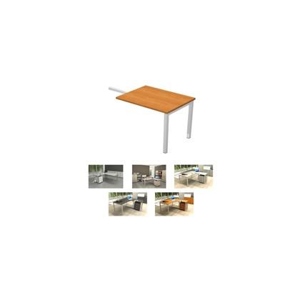 ALLUNGO REVERSIBILE DX/SX 119x60cm NOCE CHIARO per SCRIVANIE EASY Plus 674_4
