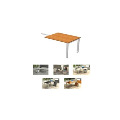 ALLUNGO REVERSIBILE DX/SX 139x60cm NOCE CHIARO per SCRIVANIE EASY Plus 672_4