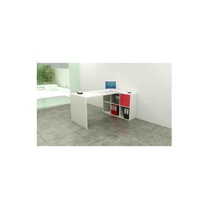 Postazione Home-Office 6 caselle L140 x P104 x H72,4cm Bianco 2767/6Max_3-3