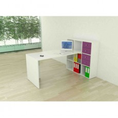 Postazione Home-Office 9 caselle L169 x P104 x H104cm Bianco 2767/9Max_3-3