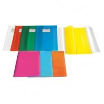 Coprimaxi PVC goffrato trasparente Emysilk c/alette 21x30cm arancio RiPlast 31715568 - Conf da 25 pz.