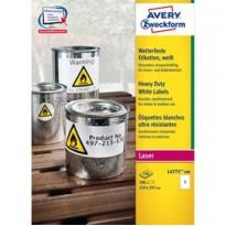 Poliestere adesivo L4775 bianco 100fg A4 210x297mm (1et/fg) laser Avery L4775-100