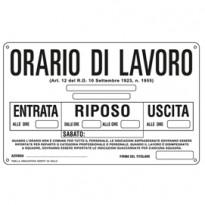 CARTELLO ALLUMINIO 30x20cm 3301