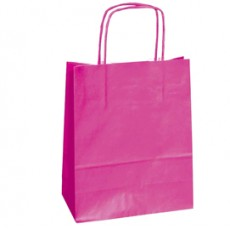 25 SHOPPERS CARTA KRAFT 18x8x24CM TWISTED MAGENTA 072062