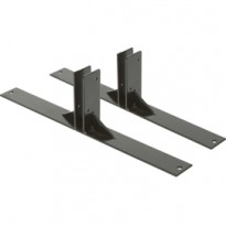 SET 2 PIEDI IN METALLO NERO per LAVAGNE Multiboard Securit SBM-FEET