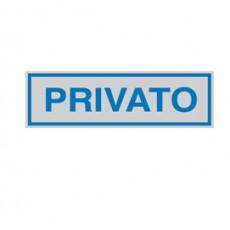 TARGHETTA ADESIVA 165x50mm PRIVATO 96698 - Conf da 10 pz.