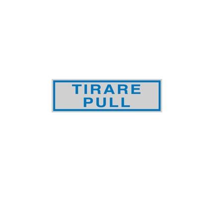 TARGHETTA ADESIVA 165x50mm TIRARE / PULL 96780 - Conf da 10 pz.