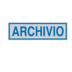 TARGHETTA ADESIVA 165x50mm ARCHIVIO 96689 - Conf da 10 pz.
