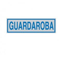 TARGHETTA ADESIVA 165x50mm GUARDAROBA 96667 - Conf da 10 pz.