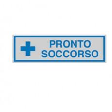 TARGHETTA ADESIVA 165x50mm PRONTO SOCCORSO 96664 - Conf da 10 pz.