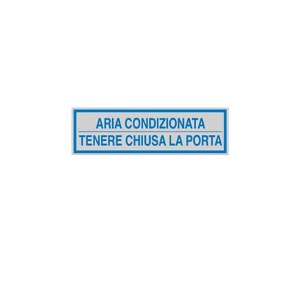TARGHETTA ADESIVA 165x50mm ARIA CONDIZIONATA ... 96694 - Conf da 10 pz.
