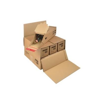 SCATOLA SPEDIZIONE MODULABILE 385x375x265mm X3/6 BOTTIGLIE CP 181.006 - Conf da 15 pz.