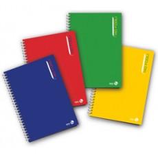 BLOCCO NOTES SPIRALATO L/Lungo 22,3x29,7cm 80gr 4mm 140fg BM 0112760 - Conf da 3 pz.