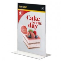 DISPLAY PORTAMENU a T 10,5x15cm (A6) Securit PFT-ACV-A6