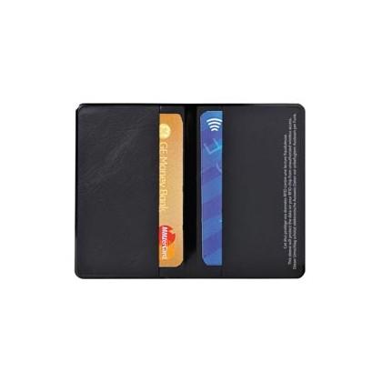 HIDENTITY Doppio 95x60mm per bancomat /carta di credito NERO Exacompta 5402E - Conf da 10 pz.