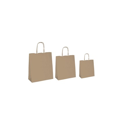 25 SHOPPERS CARTA BIOKRAFT 36X12X41CM NEUTRO CORDINO AVANA 067068
