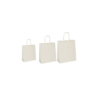 25 SHOPPERS CARTA BIOKRAFT 36X12X41CM TWISTED SABBIA 074387