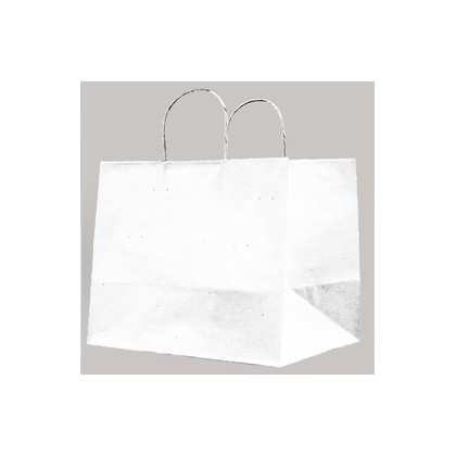 25 SHOPPERS CARTA KRAFT 32X20X33CM TWISTED LARGE BIANCO 072987