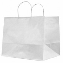25 SHOPPERS CARTA KRAFT 32X20X33CM TWISTED LARGE AVORIO 073007