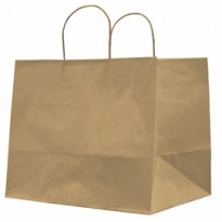 25 SHOPPERS CARTA KRAFT 32X20X33CM TWISTED LARGE AVANA 073014