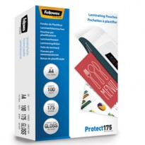 Scatola 100 pouches PROTECT175 175mic A4 Fellowes 5308703