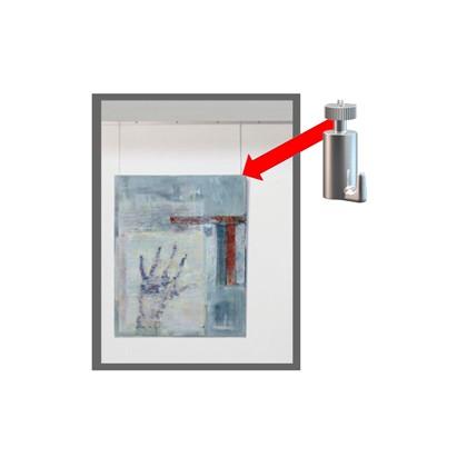 Conf.10 GANCI portata 15kg per SISTEMA APPENDI QUADRI Arte System 1512007