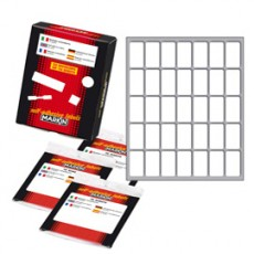 Etichetta adesiva bianca 27x15mm (10fogli x 35etichette) Markin X11019 - Conf da 10 pz.