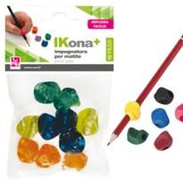 Busta 10 impugnature per matite colori assortiti CWR 11430