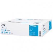 Pacco 100 asciugamani piegati a W goffrato a onda Dry Tech Papernet 407552 - Conf da 20 pz.