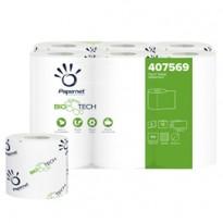 Pacco 12RT carta igienica classica 2veli 18,2mt 165 strappi BioTech Papernet 407569