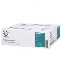 Pacco 200 asciugamani piegati a Z goffrato a onda DissolveTech Papernet 416617 - Conf da 20 pz.