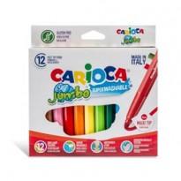 Astuccio 12 pennarelli Jumbo lavabili colori assortiti CARIOCA 40569