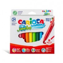 Astuccio 24 pennarelli Jumbo lavabili colori assortiti CARIOCA 40570