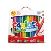 Valigetta 40 pennarelli Jumbo lavabili colori assortiti CARIOCA 41257