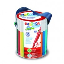 Barattolo 50 pennarelli Jumbo lavabili colori assortiti CARIOCA 42312