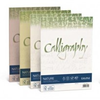 Carta CALLIGRAPHY NATURE A4 50fg 120gr oliva FAVINI A69N534