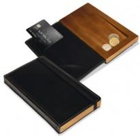 Porta conto in legno e similpelle Trendy Securit MC-DBBP-BL