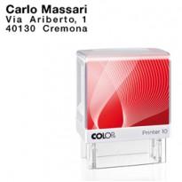 Timbro Printer 10 G7 autoinchiostrante 10x27mm 3 righe COLOP PR 10 G7 BI