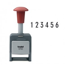 Timbro NUMERATORE 5756/P automatico 6 colonne 5,5mm autoinchiostrante TRODAT 86621.