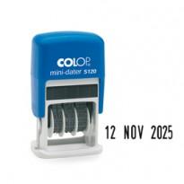 Timbro mini datario S120 3,8mm autoinchiostrante COLOP S120