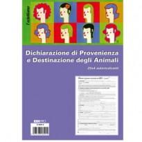 BLOCCO DICHIARAZ. PROV.-DEST. ANIMALI 25x4 copie AUTORIC. 30x22,5cm E5849A(17) E5849A(17) - Conf da 10 pz.