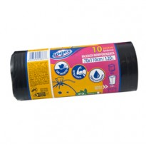 10 sacchi immondizia 43 70X110 120Lt nero Logex C4LX-1918