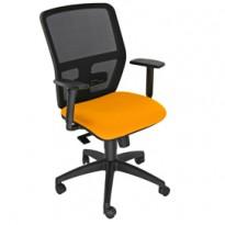 Seduta operativa ergonomica Kemper A Arancio c/bracc.reg. KMA/EA
