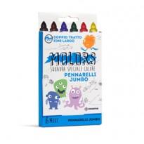 Astuccio 6 pennarelli colorati Jumbo Molors OSAMA OW 12042