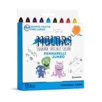 Astuccio 18 pennarelli colorati Jumbo Molors OSAMA OW 12044