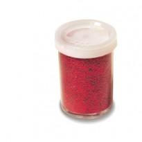 Glitter flacone grana fine 25ml rosso Cwr 06657/1 - Conf da 12 pz.